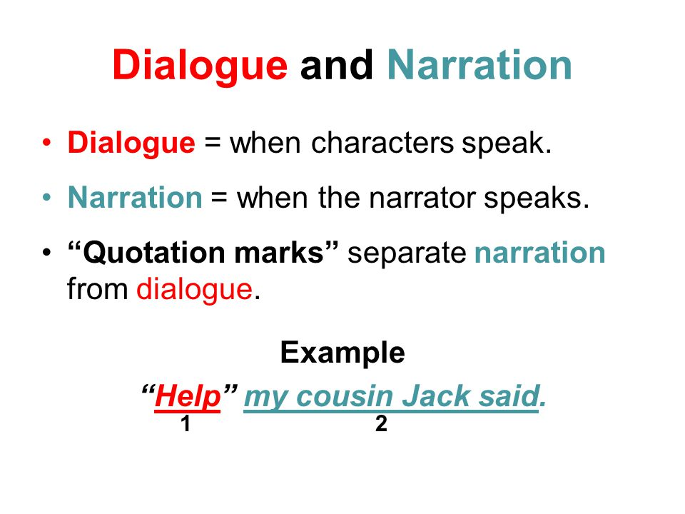 Example Of Dialogue Essay